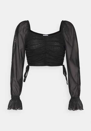 GATHERED - Long sleeved top - black