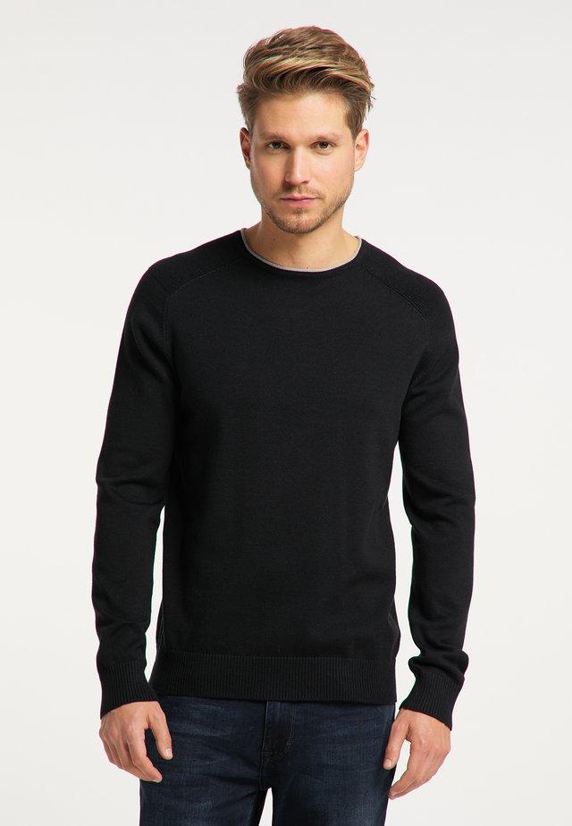 Maglione - schwarz grau melange