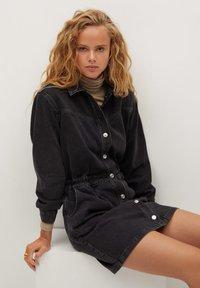 Mango - LUNA - Denim dress - black denim - 4
