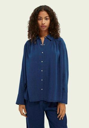 Button-down blouse - indigo