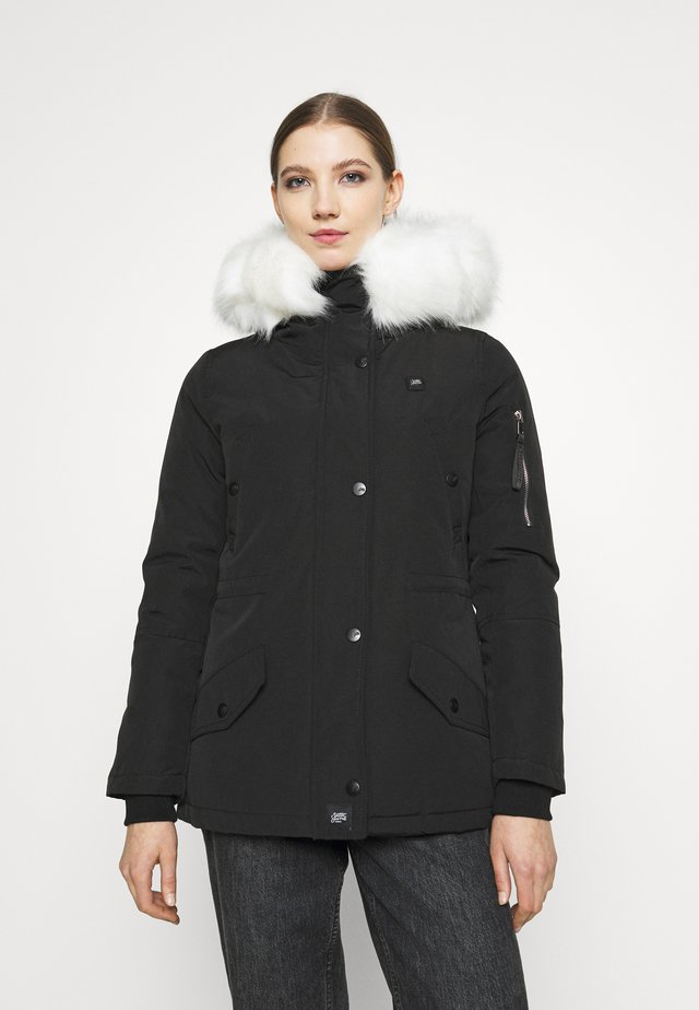 HEAT CONTROL - Zimní kabát - black/white