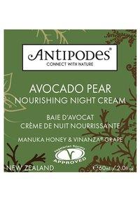 Antipodes - AVOCADO PEAR NOURISHING NIGHT CREAM  - Soin de nuit - - - 1