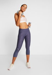 Under Armour - FLY FAST CROP - 3/4 sports trousers - blue ink - 1