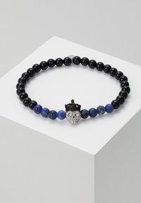 Tateossian - KING SKULL SEMI PRECIOUS UNISEX - Armband - black - 1