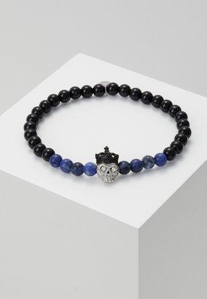 KING SKULL SEMI PRECIOUS UNISEX - Armband - black