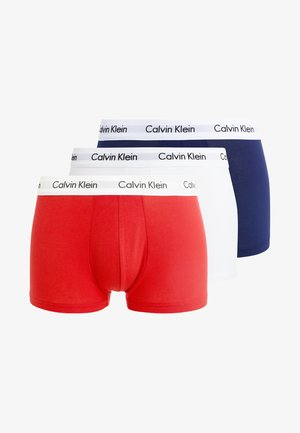 LOW RISE TRUNK 3 PACK - Boxerky - white/red ginger