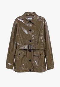 Mango - DORIS - Faux leather jacket - braun - 7