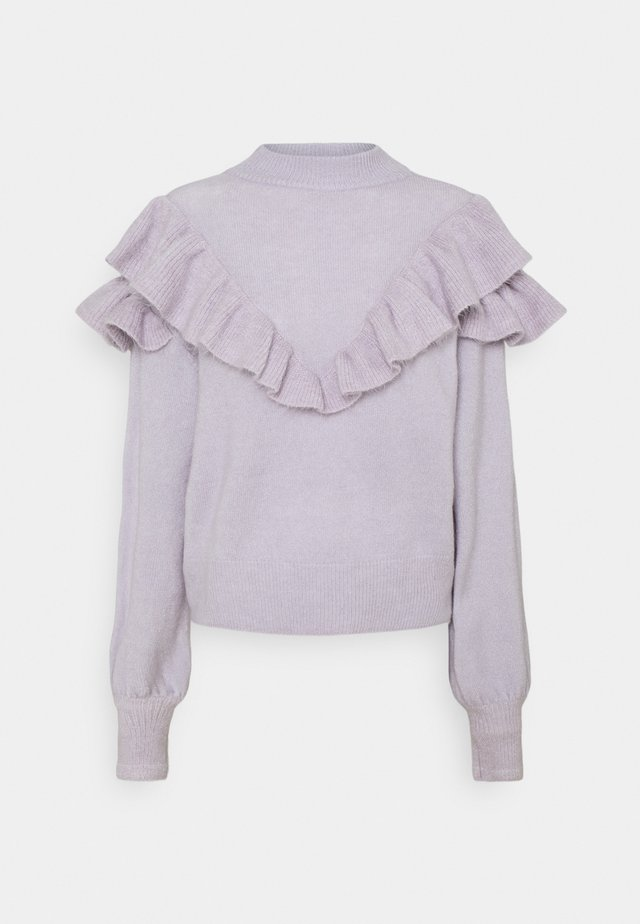 FRILLED TO SEE YOU  - Sweter - lilac