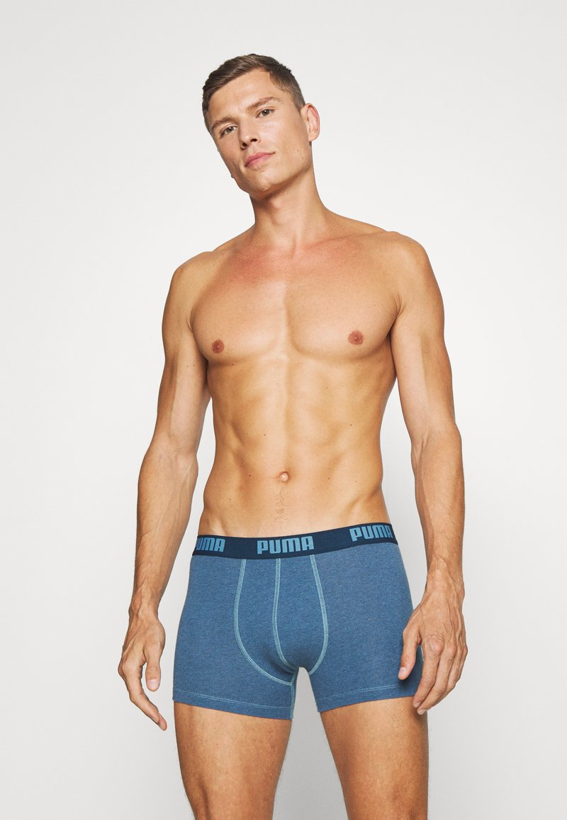 Puma - BASIC BOXER 6 PACK - Panties - denim/true blue/aqua /blue