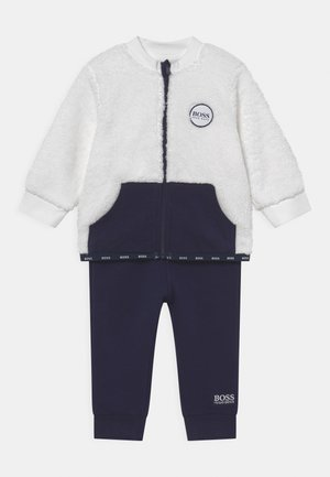 TRACK SUIT - Tracksuit - navy/off white