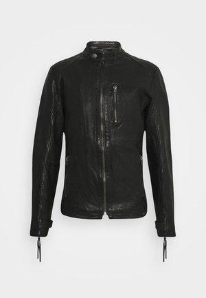 HUTCH - Kožená bunda - black