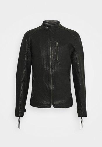 HUTCH - Leather jacket - black