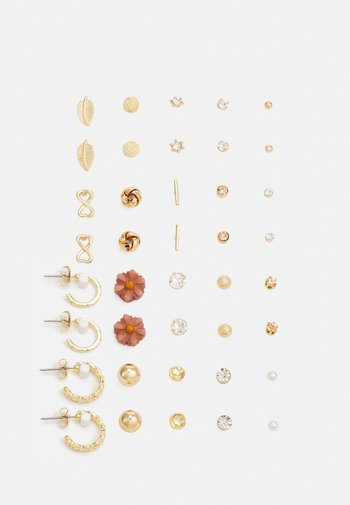 PCQISI EARSTUDS 20 PACK - Earrings - gold-coloured