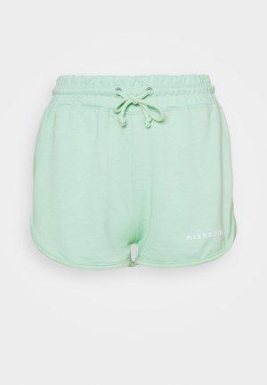 TIE WAIST RUNNER SHORT - Shorts - baby blue