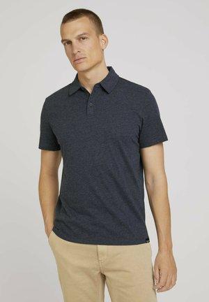 IN MELANGE OPTIK - Polo shirt - sky captain blue white melange