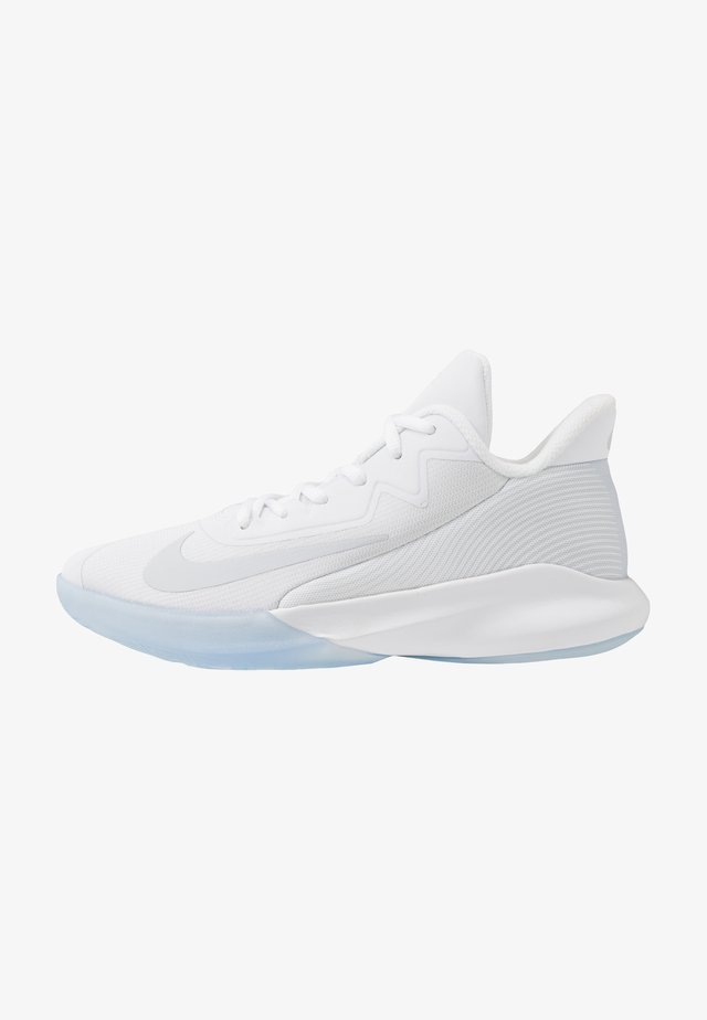 PRECISION IV - Chaussures de basket - white/pure platinum/clear