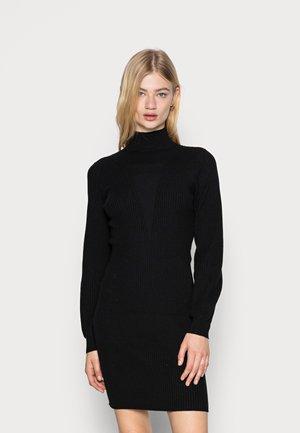 VMRAINA HIGHNECK ABOVE KNEE DRESS - Strikket kjole - black
