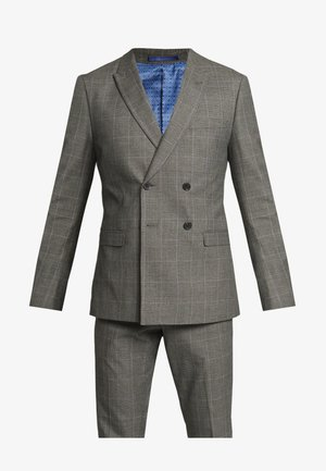TWIST CHECK SUIT - Oblek - grey