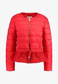 Cream - ADELLA QUILTED JACKET - Lehká bunda - red velvet - 4