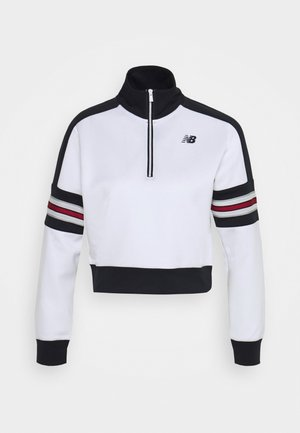 ACHIEVER HALF ZIP - Long sleeved top - white