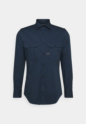 POLICE SLIM SHIRT L\S - Overhemd - sartho blue