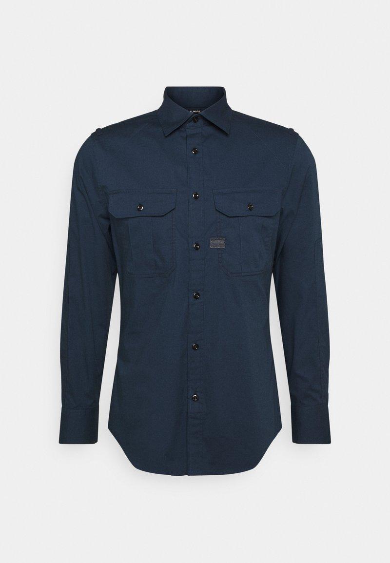 G-Star - POLICE SLIM SHIRT L\S - Shirt - sartho blue