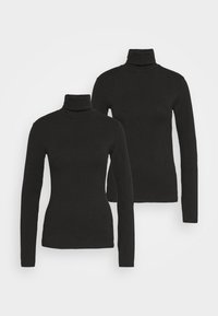 Even&Odd Tall - 2 PACK  - Long sleeved top - black - 3