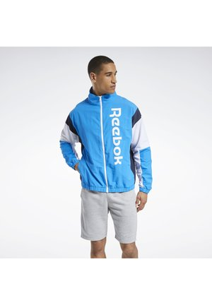 TRAINING ESSENTIALS LINEAR LOGO JACKET - Training jacket - blue