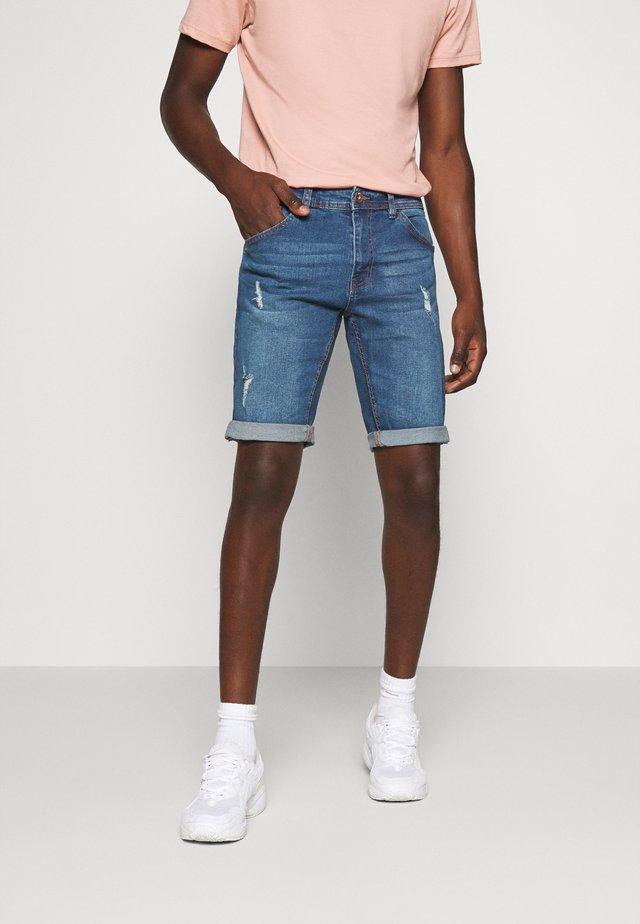 HAMPTON - Denim shorts - light blue