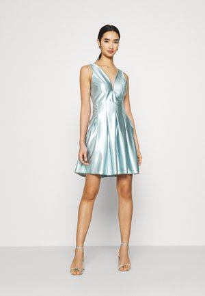 PLEATED SKATER DRESS - Cocktail dress / Party dress - light blue