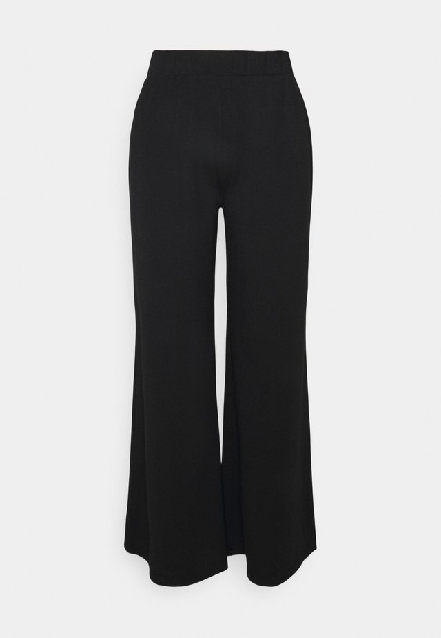 WIDE LEG PANT - Trousers - black
