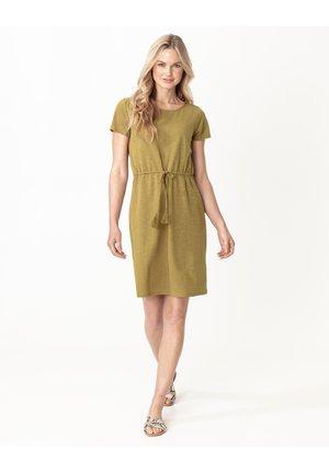 GRYNET - Jersey dress - olive