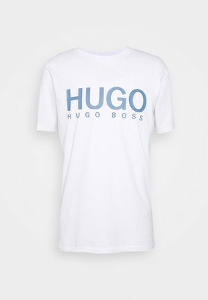 DOLIVE - T-shirt med print - white/blue