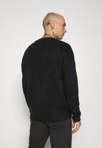 Mennace - JAQUARD JUMPER - Jumper - black - 2