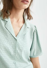 DeFacto - Button-down blouse - turquoise - 4
