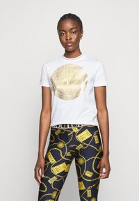Versace Jeans Couture - LADY - Print T-shirt - optical white/gold - 0