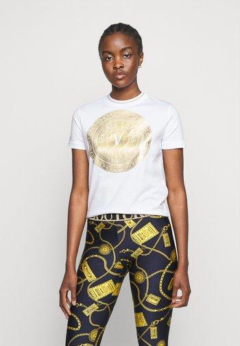 LADY - T-Shirt print - optical white/gold