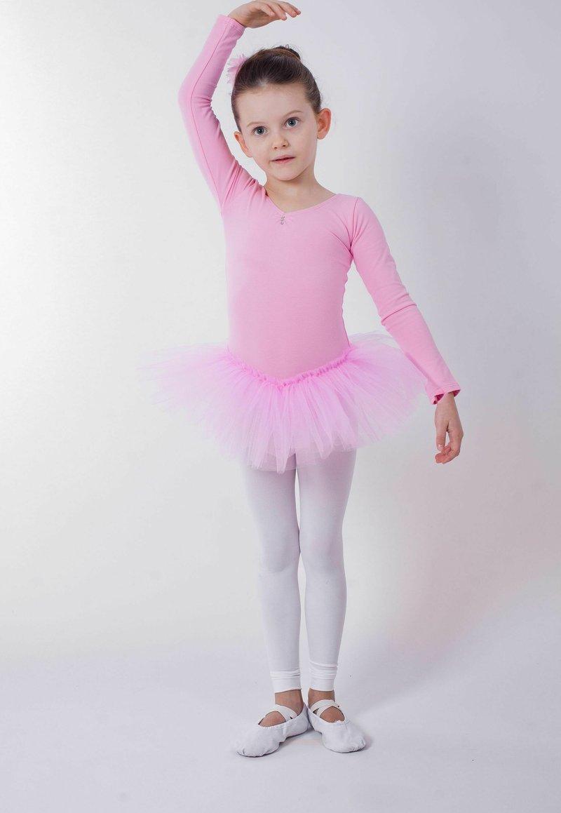 Girls Short Sleeve Ballet Leotard Combo with Dance Skirt