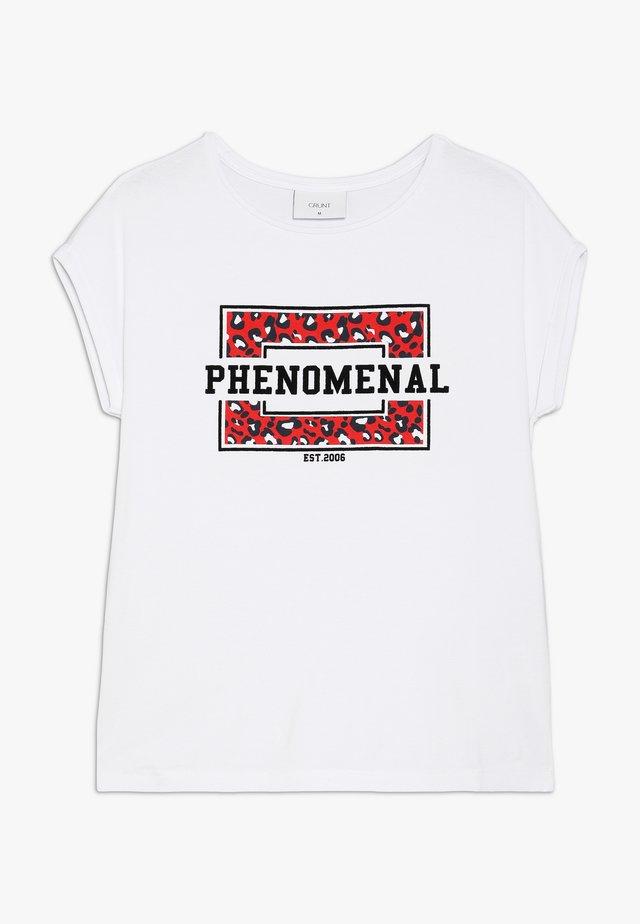 STELLA TEE - T-shirt z nadrukiem - white