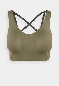 adidas Performance - ALPHA BRA - High support sports bra - olive - 4
