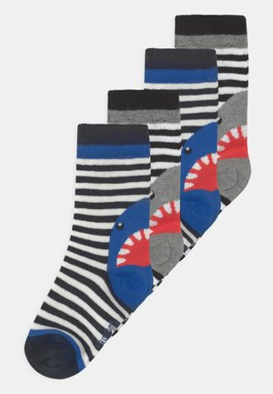 SHARK STRIPES 4 PACK - Sokken - blue/black