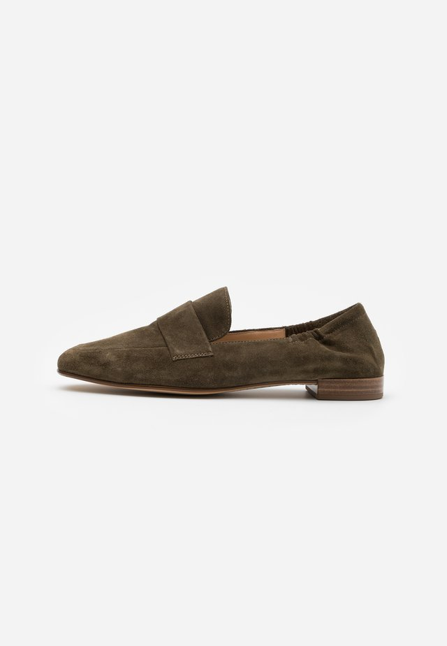 Nazouvací boty - olive