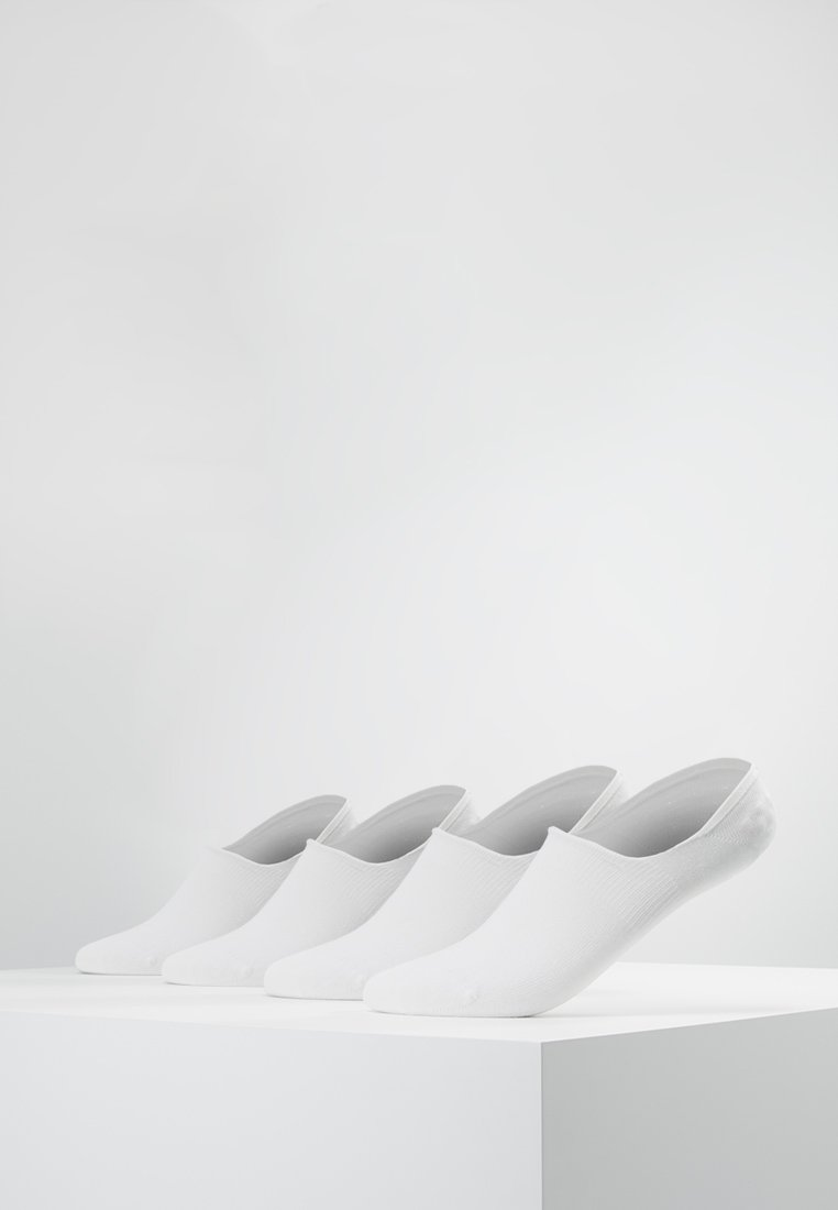 camano - INVISIBLE SNEAKER 4 PACK - Trainer socks - white