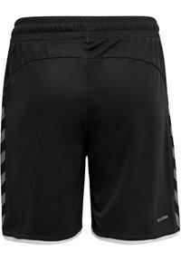 Hummel - AUTHENTIC KIDS POLY SHORTS - Sports shorts - black/white - 2