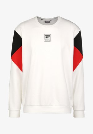 REBEL CREW SMALL LOGO - Sweatshirt - white
