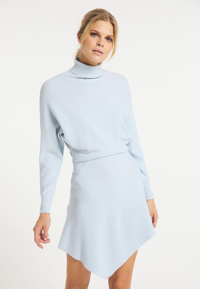 Gebreide jurk - hellblau