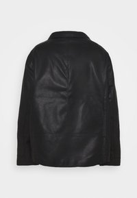 Jack & Jones - JORNOLAN BIKER JACKET - Faux leather jacket - black - 1