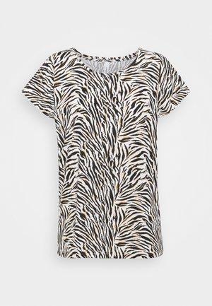 FELICITY  - Print T-shirt - 8295 biscuit combi