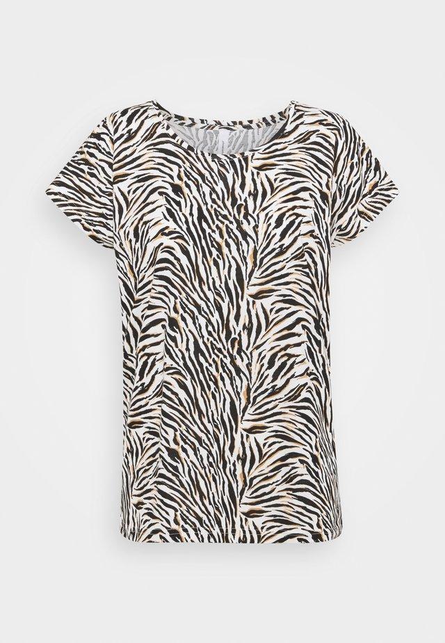 FELICITY  - T-shirt print - 8295 biscuit combi