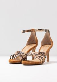 PERLATO - High heeled sandals - camel - 4